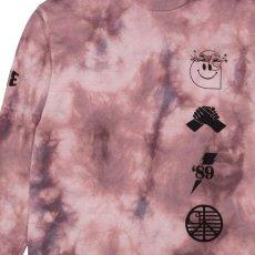 画像4: TAB L/S Tie Dye Tee タイダイ ロング スリーブ ルーズ フィット 長袖 Tシャツ Chromo Malaga Pink / Black (4)