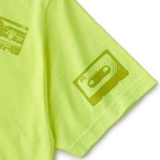 画像3: Oldies S/S Tee 半袖 総柄 オールディーズ Cassette Tape カセット テープ Tシャツ Neon Yellow (3)