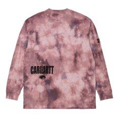 画像2: TAB L/S Tie Dye Tee タイダイ ロング スリーブ ルーズ フィット 長袖 Tシャツ Chromo Malaga Pink / Black (2)