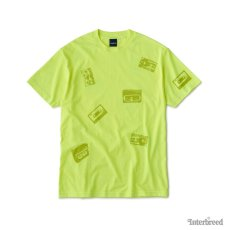 画像6: Oldies S/S Tee 半袖 総柄 オールディーズ Cassette Tape カセット テープ Tシャツ Neon Yellow (6)