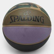 画像4: × Spalding Valiant 4 Basketball スパルディング コラボレーション バスケット ボール 7号 Camo Laurel Black Air Force Grey Leather (4)