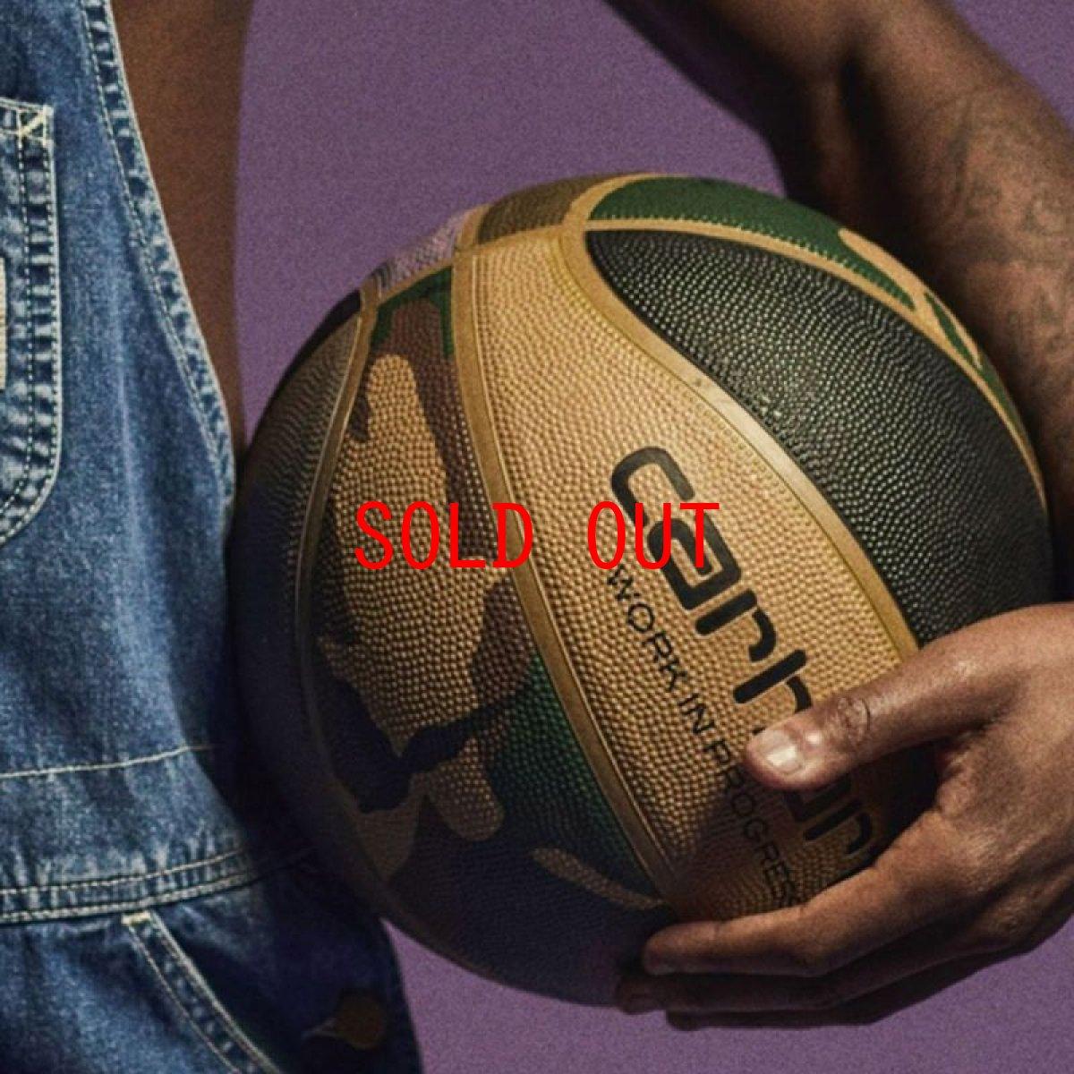 画像1: × Spalding Valiant 4 Basketball スパルディング コラボレーション バスケット ボール 7号 Camo Laurel Black Air Force Grey Leather (1)