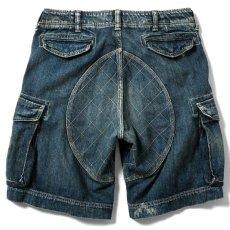 画像3: Washed Denim Shorts デニム ショーツ カーゴ ショート パンツ Vintage ビンテージ Paisley ペイズリー (3)