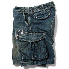 画像4: Washed Denim Shorts デニム ショーツ カーゴ ショート パンツ Vintage ビンテージ Paisley ペイズリー (4)