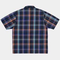 画像3: Vilay Check S/S Shirts オープン カラー チェック柄 半袖 シャツ コットン ポプリン チェスト ポケット Cロゴ スクエア ラベル Dark Navy ネイビー (3)