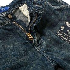 画像7: Washed Denim Shorts デニム ショーツ カーゴ ショート パンツ Vintage ビンテージ Paisley ペイズリー (7)