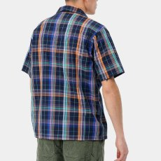画像5: Vilay Check S/S Shirts オープン カラー チェック柄 半袖 シャツ コットン ポプリン チェスト ポケット Cロゴ スクエア ラベル Dark Navy ネイビー (5)