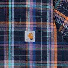 画像7: Vilay Check S/S Shirts オープン カラー チェック柄 半袖 シャツ コットン ポプリン チェスト ポケット Cロゴ スクエア ラベル Dark Navy ネイビー (7)