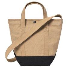 画像5: Canvas Small Tote Bag キャンバス スモール トート ショルダー バッグ 2way Dusty Hamilton Brown Black ハミルトン ブラウン ブラック (5)