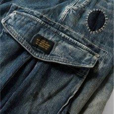 画像10: Washed Denim Shorts デニム ショーツ カーゴ ショート パンツ Vintage ビンテージ Paisley ペイズリー (10)