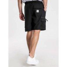 画像1: Elmwood Shorts タクティカル ナイロン カーゴ ショーツ リフレクティブ ラベル リラックスフィット アウトドア Black ブラック (1)