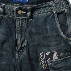 画像6: Washed Denim Shorts デニム ショーツ カーゴ ショート パンツ Vintage ビンテージ Paisley ペイズリー (6)