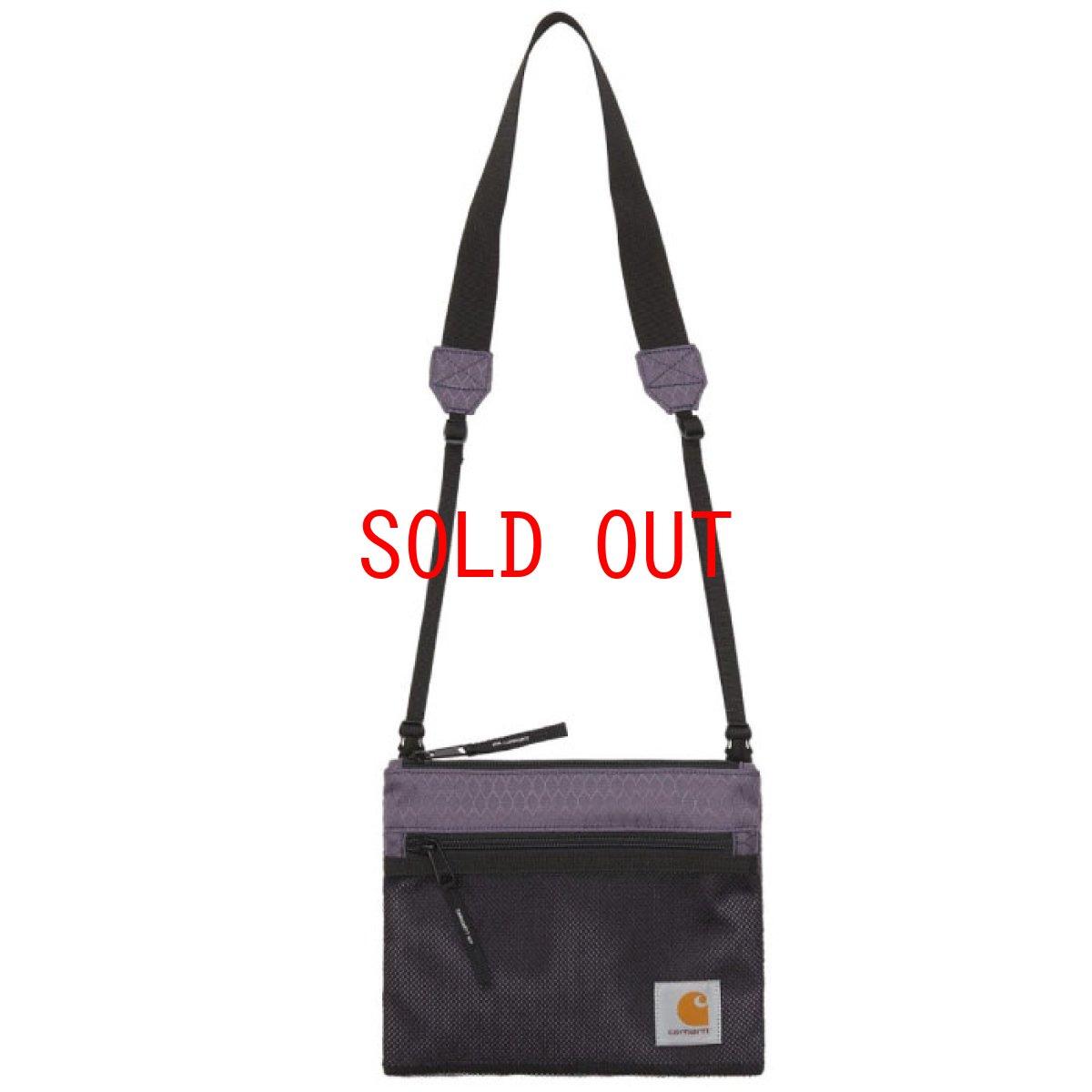 画像1: Spey Strap Bag ストラップ バッグ ショルダー メッシュ ポケット トラベル Provence Purple Black ライト パープル ブラック (1)