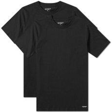 画像2: Standard Crew Neck Tee 2PC Pack 2 パック 半袖 Tシャツ スタンダード クルー ネック 無地 Black ブラック (2)