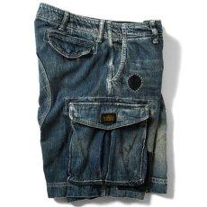画像5: Washed Denim Shorts デニム ショーツ カーゴ ショート パンツ Vintage ビンテージ Paisley ペイズリー (5)