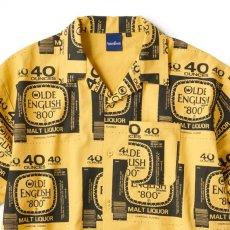 画像3: Drunkers S/S Shirt 半袖 総柄 オープンカラー シャツ Mustard Yellow マスタード イエロー (3)