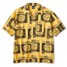 画像2: Drunkers S/S Shirt 半袖 総柄 オープンカラー シャツ Mustard Yellow マスタード イエロー (2)