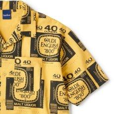 画像4: Drunkers S/S Shirt 半袖 総柄 オープンカラー シャツ Mustard Yellow マスタード イエロー (4)
