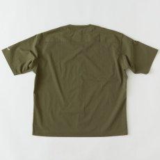 画像3: Curveball seersucker baseball shirt シアサッカー ベース ボールシャツ ストレッチ BIGシルエット ベース ボールシャツ カットソー Olive Green オリーブ グリーン (3)