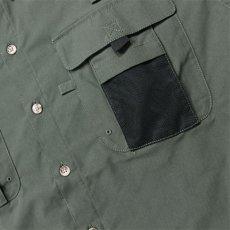 画像8: Ripstop Utility S/S Multi Pocket Shirts Fishing ユーティリティー フィッシング 半袖 シャツ Olive Green オリーブ グリーン (8)