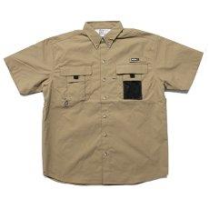 画像1: Ripstop Utility S/S Multi Pocket Shirts Fishing ユーティリティー フィッシング 半袖 シャツ Beige ベージュ (1)