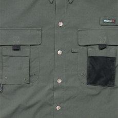 画像4: Ripstop Utility S/S Multi Pocket Shirts Fishing ユーティリティー フィッシング 半袖 シャツ Olive Green オリーブ グリーン (4)