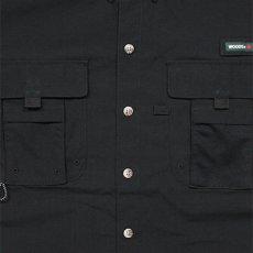 画像4: Ripstop Utility S/S Multi Pocket Shirts Fishing ユーティリティー フィッシング 半袖 シャツ Black ブラック (4)