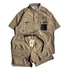 画像8: Ripstop Utility S/S Multi Pocket Shirts Fishing ユーティリティー フィッシング 半袖 シャツ Beige ベージュ (8)