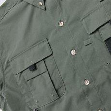 画像6: Ripstop Utility S/S Multi Pocket Shirts Fishing ユーティリティー フィッシング 半袖 シャツ Olive Green オリーブ グリーン (6)
