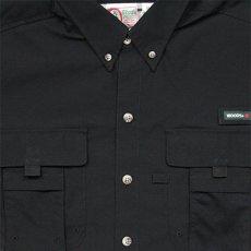 画像2: Ripstop Utility S/S Multi Pocket Shirts Fishing ユーティリティー フィッシング 半袖 シャツ Black ブラック (2)
