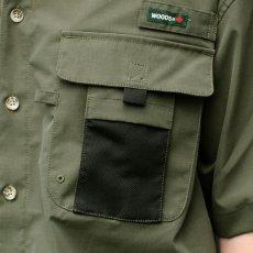 画像3: Ripstop Utility S/S Multi Pocket Shirts Fishing ユーティリティー フィッシング 半袖 シャツ Olive Green オリーブ グリーン (3)