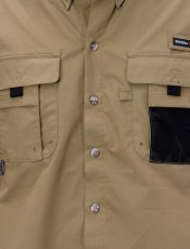 画像4: Ripstop Utility S/S Multi Pocket Shirts Fishing ユーティリティー フィッシング 半袖 シャツ Beige ベージュ (4)