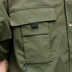 画像2: Ripstop Utility S/S Multi Pocket Shirts Fishing ユーティリティー フィッシング 半袖 シャツ Olive Green オリーブ グリーン (2)