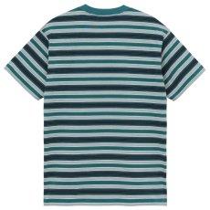 画像3: Otis S/S Stripe Tee ボーダー 半袖 Tシャツ Border T-Shirt Wax Kingston Green (3)