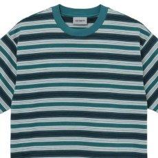 画像4: Otis S/S Stripe Tee ボーダー 半袖 Tシャツ Border T-Shirt Wax Kingston Green (4)