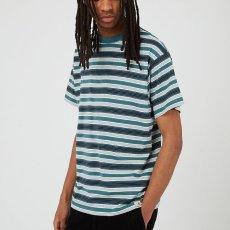 画像6: Otis S/S Stripe Tee ボーダー 半袖 Tシャツ Border T-Shirt Wax Kingston Green (6)