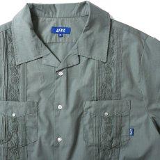 画像4: Rose Cuban S/S Shirt 半袖 キューバ シャツ embroidery 刺繍 ローズ Olive Green (4)