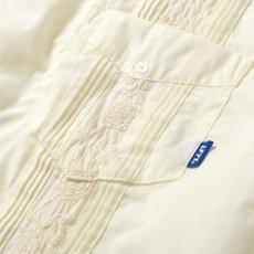 画像5: Rose Cuban S/S Shirt 半袖 キューバ シャツ embroidery 刺繍 ローズ White ホワイト (5)