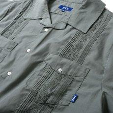 画像6: Rose Cuban S/S Shirt 半袖 キューバ シャツ embroidery 刺繍 ローズ Olive Green (6)