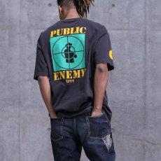 画像2: X Public Enemy Target S/S Tee パブリック エネミー 半袖 Tシャツ Black ブラック (2)
