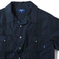 画像3: Rose Cuban S/S Shirt 半袖 キューバ シャツ embroidery 刺繍 ローズ Navy ネイビー (3)