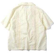 画像2: Rose Cuban S/S Shirt 半袖 キューバ シャツ embroidery 刺繍 ローズ White ホワイト (2)