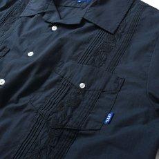 画像4: Rose Cuban S/S Shirt 半袖 キューバ シャツ embroidery 刺繍 ローズ Navy ネイビー (4)