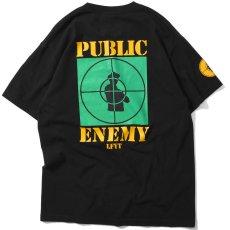 画像4: X Public Enemy Target S/S Tee パブリック エネミー 半袖 Tシャツ Black ブラック (4)