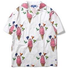 画像2: × Rabuns Melting Mr.Snub S/S Shirt ラブン 開襟 半袖 シャツ (2)