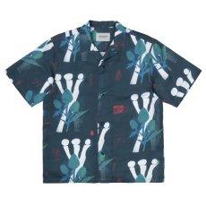 画像3: Tom KRÓL Flowers S/S Allover Open Colour Shirt 半袖 柄 シャツ (3)