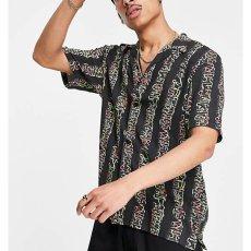 画像6: Transmission S/S Allover Open Colour Shirt オープンカラー ルーズフィット 半袖 柄 シャツ Black (6)
