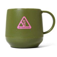 画像4: Outdoor Logo Pla Thermo Mug アウトドア ロゴ 二層構造 マグカップ Black Navy Olive (4)