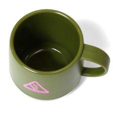 画像7: Outdoor Logo Pla Thermo Mug アウトドア ロゴ 二層構造 マグカップ Black Navy Olive (7)