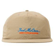 画像1: Fool Me Once 5-Paneel Dry Nylon Cap パネル ナイロン キャップ 帽子 Khaki Black (1)
